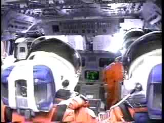 shuttle launch from cockpit