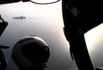 A-6 landing on carrier