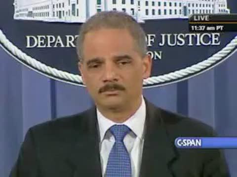 Eric Holder - No more raids
