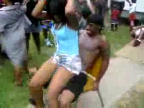 ghetto lap dance spitting